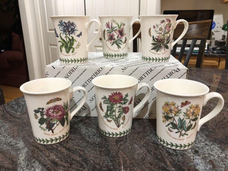 Set Of 6 Brand New Portmeirion Mugs- Made In England