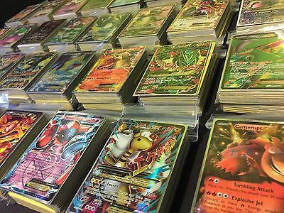 Pokemon Tcg 100 Card Lot Guaranteed Ex Gx Mega Ex Or Full Art   Holos   Rares