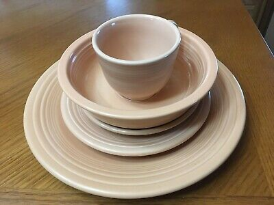 Fiesta Apricot 5 pc Place Setting - Used - No Retail -