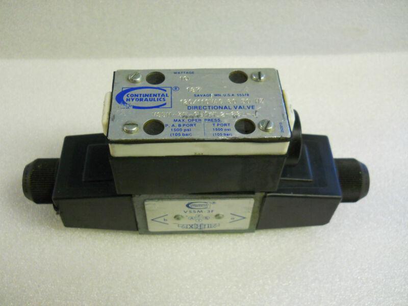 CONTINENTAL VS5M-3F-GB5HL2-68L-J DIRECTIONAL SOLENOID VALVE NEW CONDITION NO BOX
