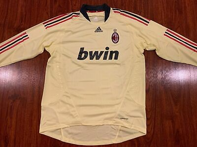 2008-09 Adidas AC Milan Men's Player Issue GK Home Soccer Jersey XL Italy 09 Home Jersey