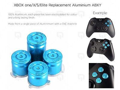 BLUE XBOX one/X/S Elite Microsoft Aluminium ABXY Buttons Key Set Keypads luger