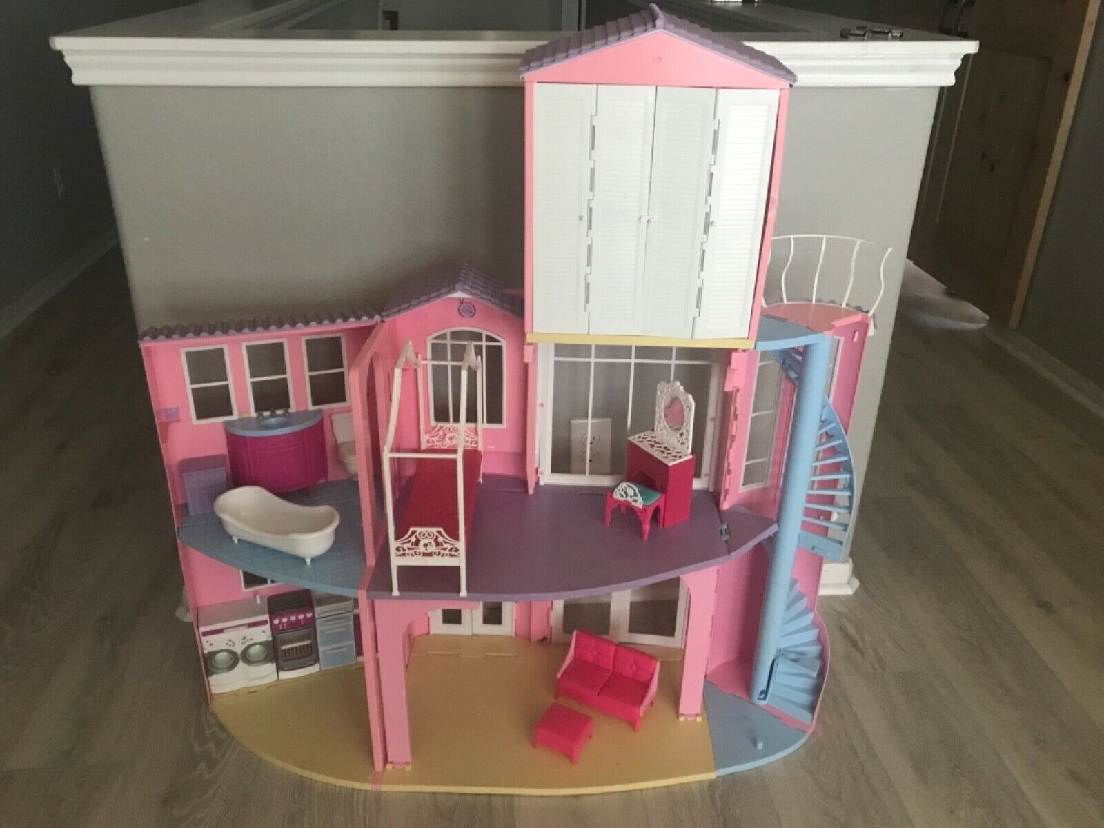 Photo Mattel Barbie 3-Story Dream House Playset 2006 Vintage Foldable Working SOUNDS!!