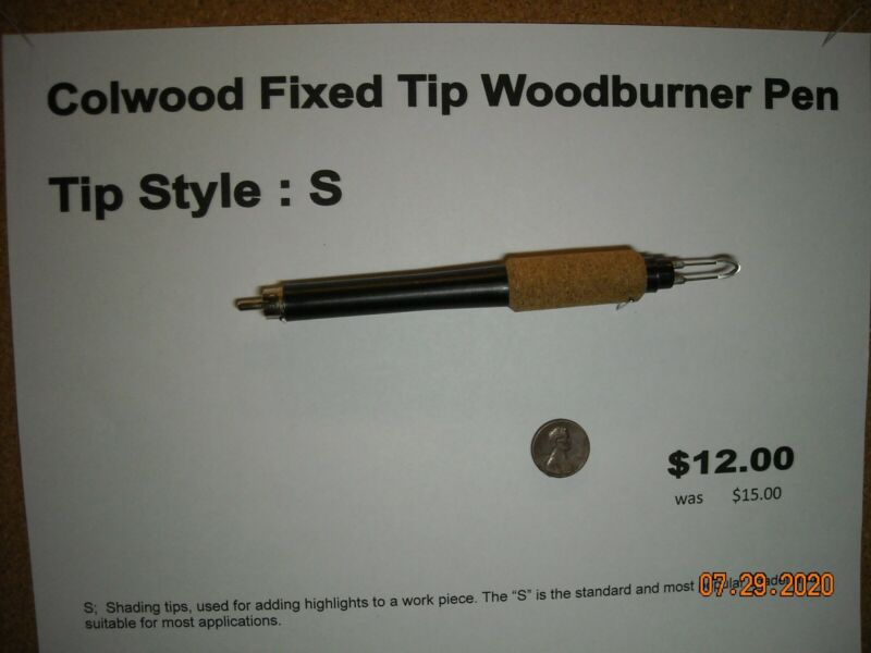 Colwood Fixed Tip Woodburner Pen Tip Style S