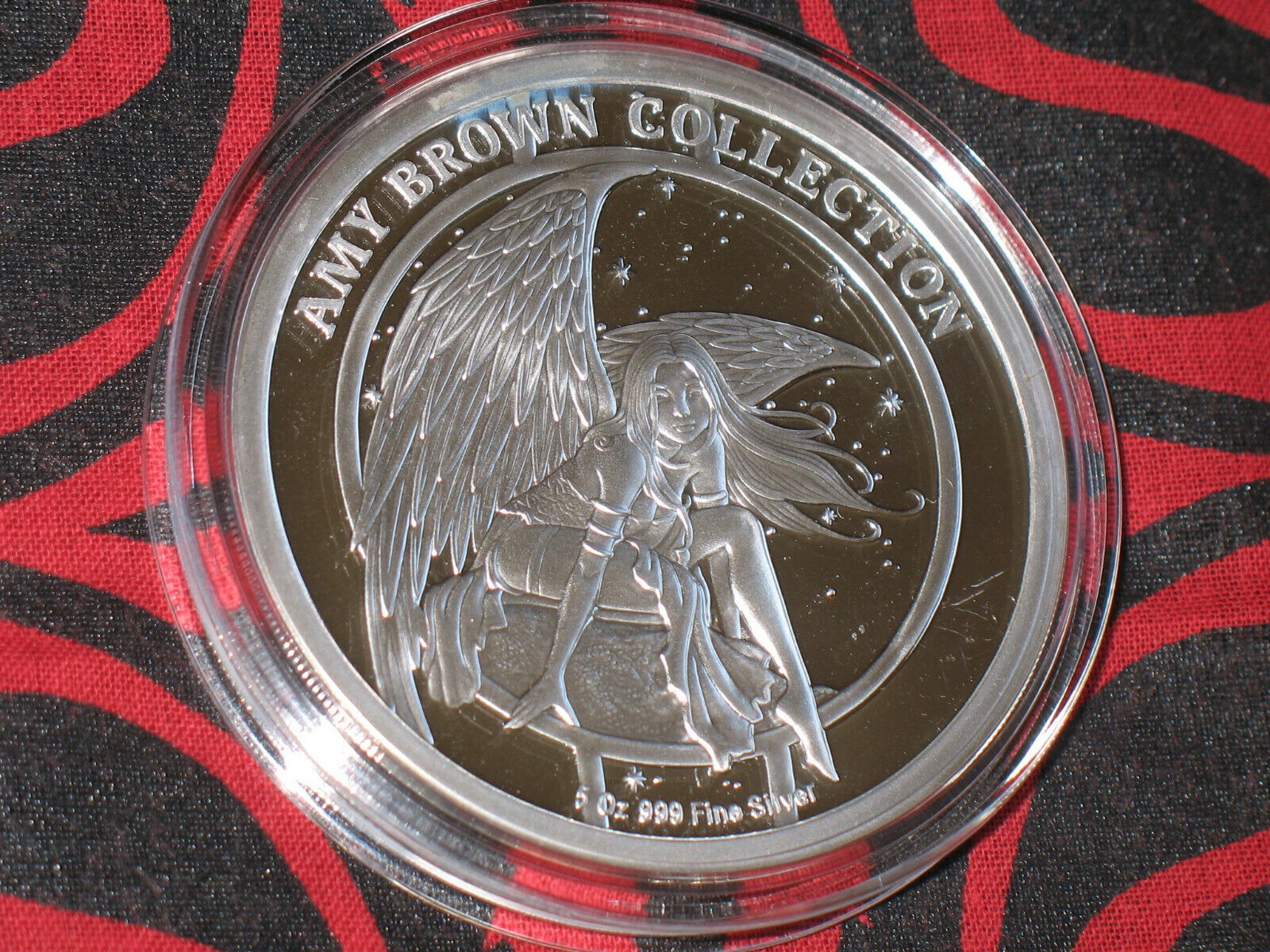AMY BROWN FAIRY COLLECTION. 5 OZ PROOF Silver Coin. WALLFLOWER COLORIZED.  - $275.00