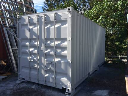 """REPAINTED shipping container workshop/storage 20"""" good cond Jacobs Well Gold Coast North Preview"""