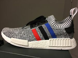 "Adidas NMD R1 Primeknit ""Tri Colour"" White - Men's size 10"