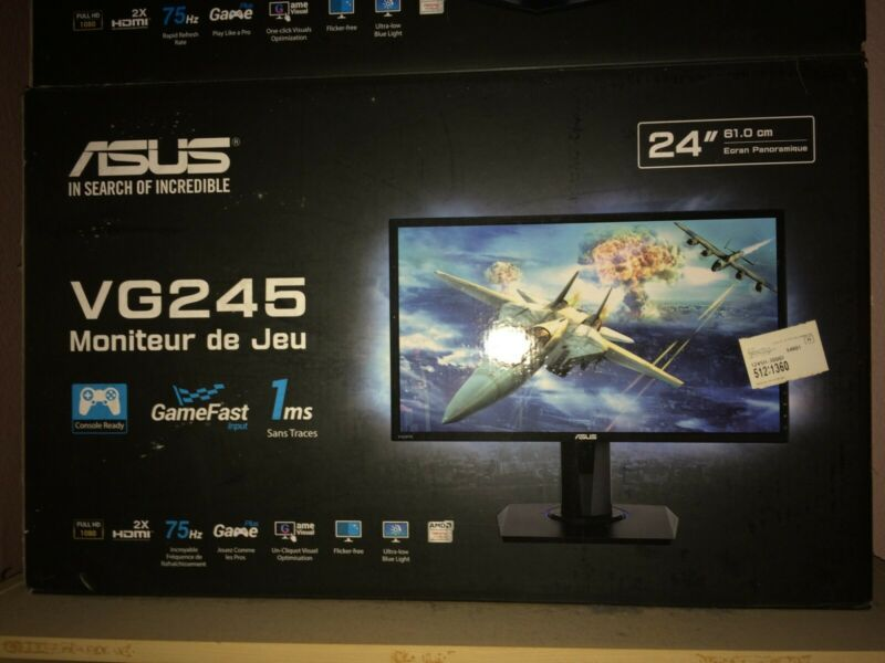 "ASUS VG245H 24"" Full HD TN LCD Widescreen Gaming Monitor"