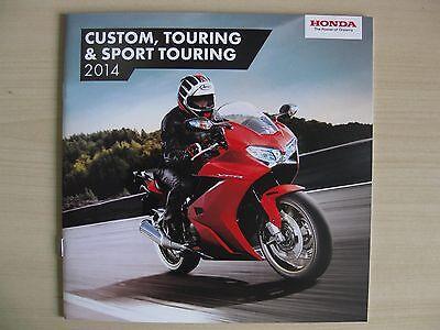 Honda Custom & Sports Tourers UK Sales Brochure (2014), Inc VFR1200 & GoldWing