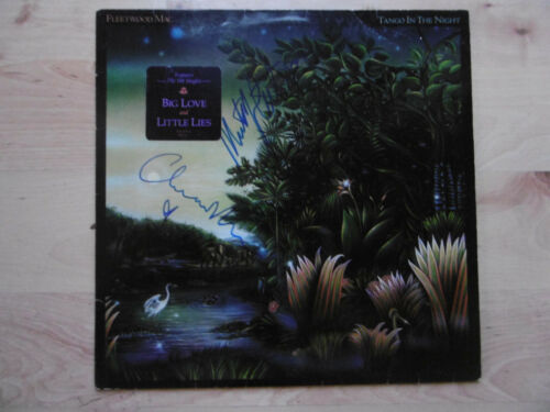 """Fleetwood Mac Autogramme signed LP-Cover """"Tango In The Night"""" Vinyl"""