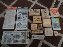Collection of mostly new clear and wooden rubber stamps Dingley Village Kingston Area Preview