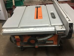 "Portable ridgid 10"" table saw"