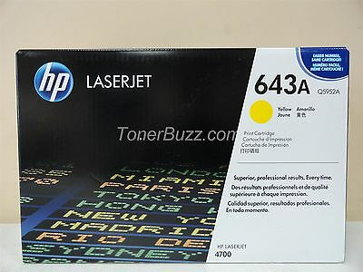 GENUINE HP Q5952A 643A YELLOW TONER CARTRIDGE LASER JET 4700 BRAND NEW