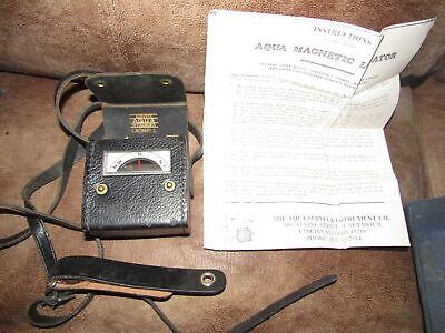 Vintage Aqua Survey Instrument Co. Magnetic Locator Dip Meter Compass Wcase