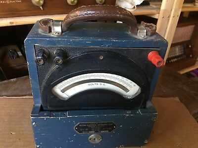 Vintage Weston D.c. Voltmeter Model 45 In Wood Case