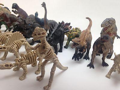 New 34 Pcs Toys Safari Set Dinosaurs Animal Figure Dino Kids Collectable Playset