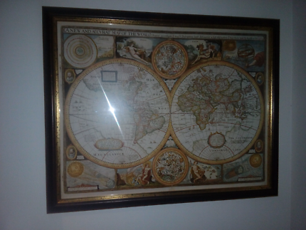 Ikea premiar canvas world map picture frames gumtree australia framed world map gumiabroncs Gallery