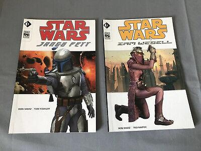 2 Star Wars Colour Books Lucas /Titan Books Jango Fett & Zam Wesell (Free Post)