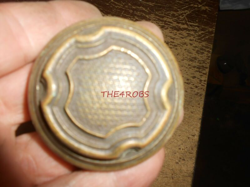Set of 12 Matching Vintage Brass Door Knobs