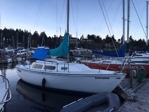 Catalina C25 25' sailboat with tender and outboard
