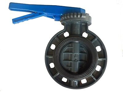 6 Inch New Sch80 Pvc Butterfly Valve Locking Handle Wafer Style Irrigation