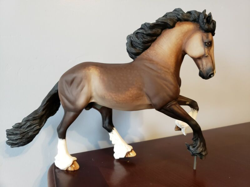 Artist Resin Horse Custom OOAK Braveheart Sheryl Leisure Traditional Sculpture