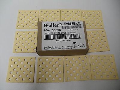 Qty 10 - Weller Ec305 Soldering Sponge Swiss Cheese Style