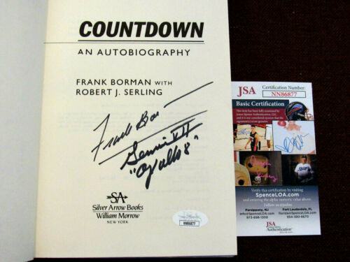 FRANK BORMAN APOLLO 8 ASTRONAUT SIGNED AUTO FIRST EDITION COUNTDOWN BOOK JSA
