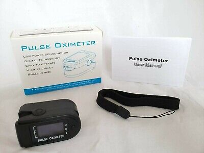 Finger Pulse Oximeter Blood Oxygen Spo2 Monitor Respiratoy Rate Fda Ce