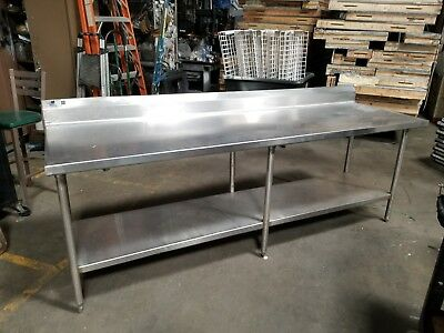 Stainless Steel Commercial Work Prep Table - 30 X 96