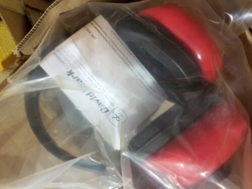 *NEW, IN PLASTIC David Clark Hearing Protection #12489G-01 Red Hearing Protectio