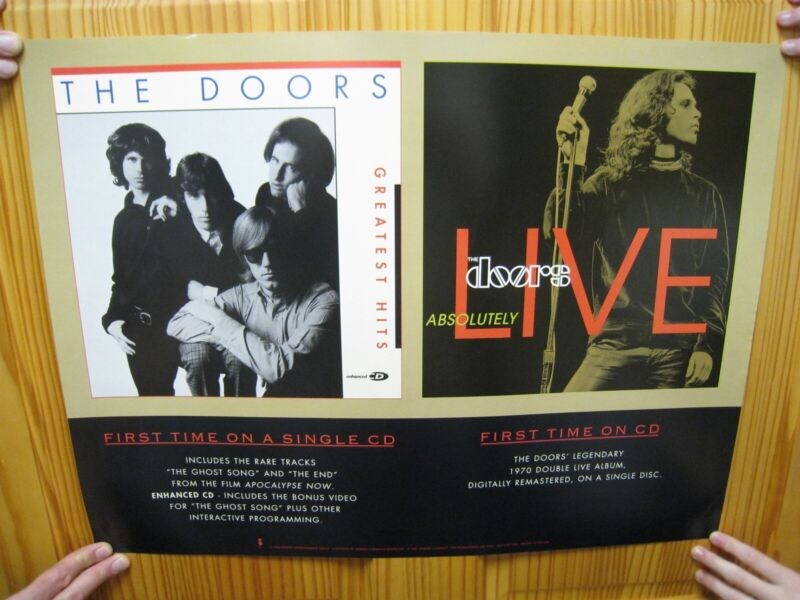 The Doors Poster Absolutely Live Greatest Hits First Time On CD Band Shot