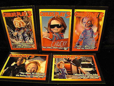 Child's Play 5 (( Child's Play 3 )    5  collector cards sealed in)