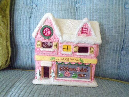 Vtg Christmas Village Bakery