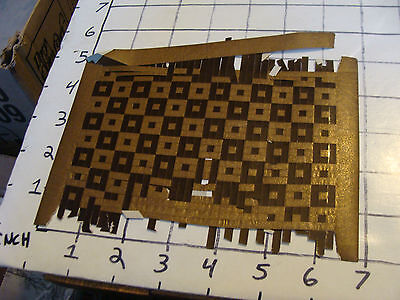 Vintage Paper: Neat woven paper art from 1800s dark brown and metalic brown