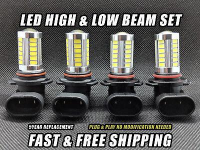 LED Combo Headlight For Chevrolet K1500 Suburban 1992-1999 Low & High Beam Set 4