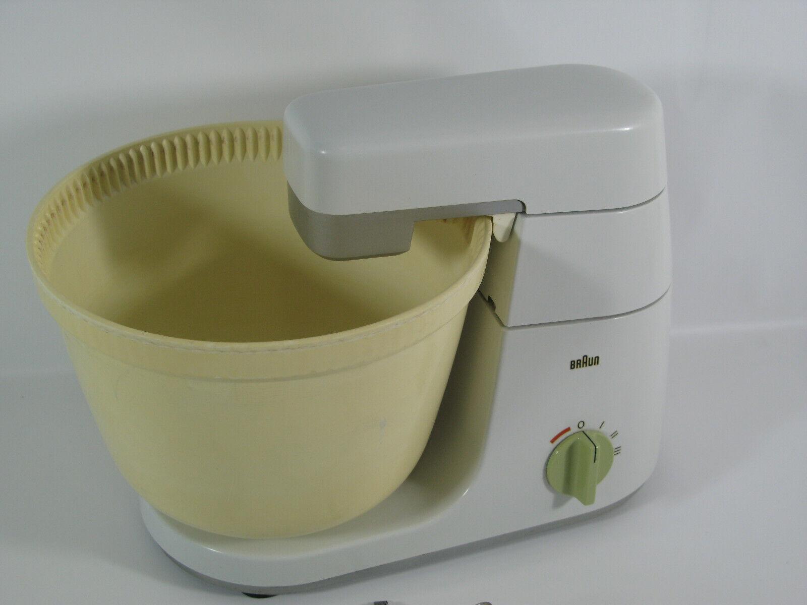 Braun KM 32 Vintage Küchenmaschine Typ 4209 mit Mixeraufsatz und Schnitzelwerk