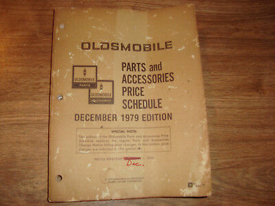 Oldsmobile Parts And Accessories Price Schedule December 1979 Edition CWI