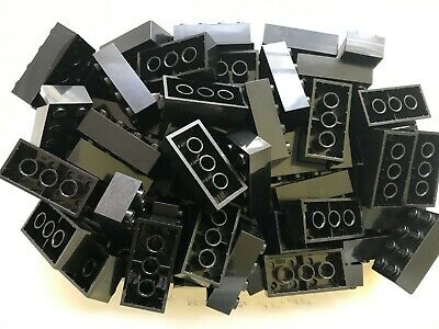 LEGO- NEW-#3001- 2 x 4 BLACK BRICKS-20 BRICKS