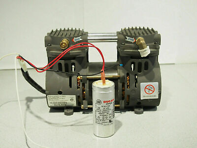 Devilbiss Zw280d2-751.4 Air Vacuum Compressor Pump 9 - 15 In Hg 50 - 70 Psi