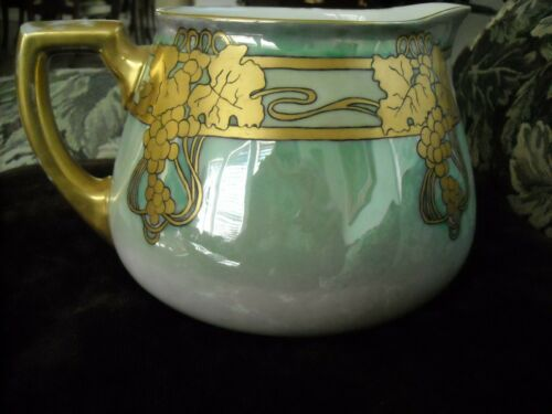 Antique Nouveau Hand Painted WG Limoges Lemonade Pitcher