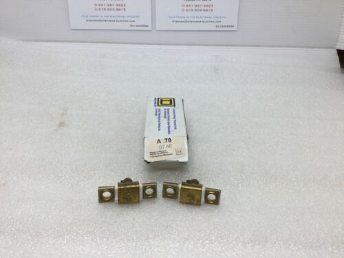 (Lot of 2) Square D Overload Relay Thermal Unit A.78