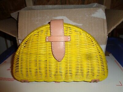 J.CREW STRAW HANDBAG CLUTCH NEW