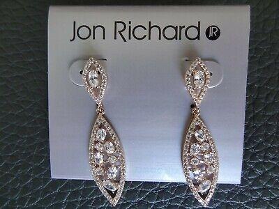 NEW JON RICHARD ROSE GOLD EARRINGS.