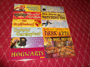 LOT OF 4  HARRY POTTER  8.5'' x 3 '' LARGE STICKERS OOP