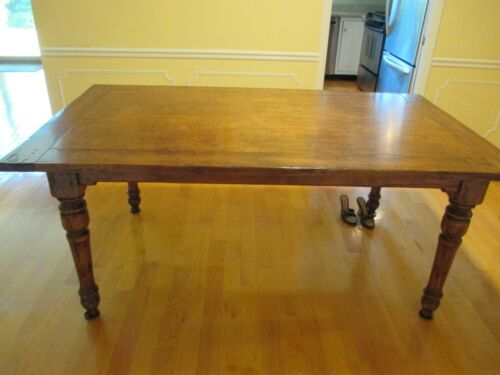 Antique One solid cut of Alder wood Farm House Style Table with extension