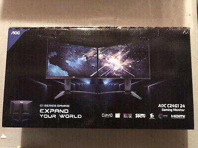 "New AOC C24G1 24"" Curved Frameless Gaming Monitor Black"