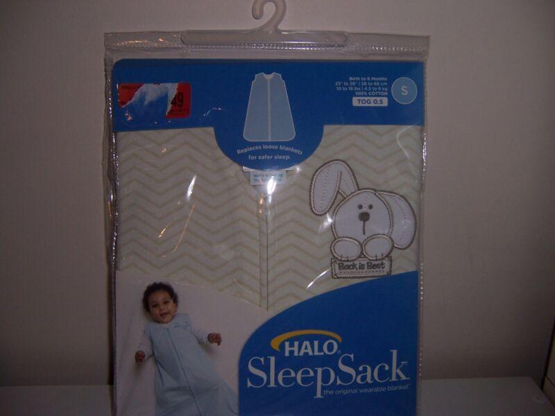 Halo 100 % cotton  sleepsack wearable blanket new size small puppy