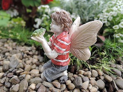 Ethan Fairy with Frog New Dollhouse Miniature ...