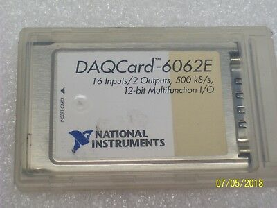 New National Instruments Daqcard Daq Card 6062e Ni Pcmcia 12-bit Io